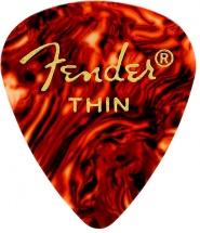 Fender Médiators Forme Standard, Motif écaille, Thin, Par 12