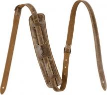 Fender Fender Vintage-style Distressed Leather Strap, Brown