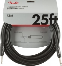 Fender Professional Series Instrument Cable Straight/straight 25\' Black