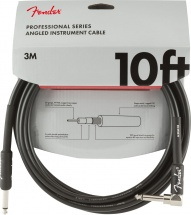 Fender Professional Series Instrument Cable Straight-angle 10\' Black