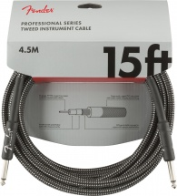 Fender Professional Series Instrument Cable 15\' Gray Tweed