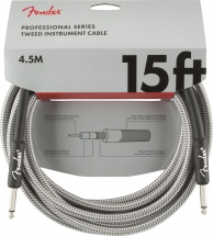 Fender Professional Series Instrument Cable 15\' White Tweed