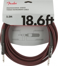 Fender Professional Series Instrument Cable 18.6\' Red Tweed
