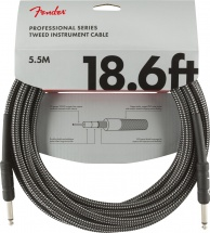 Fender Professional Series Instrument Cable 18.6\' Gray Tweed