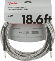Fender Professional Series Instrument Cable 18.6\' White Tweed