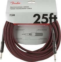 Fender Professional Series Instrument Cable 25\' Red Tweed