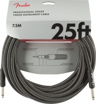 Fender Professional Series Instrument Cable 25\' Gray Tweed