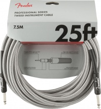 Fender Professional Series Instrument Cable 25\' White Tweed