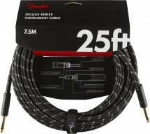 Fender Deluxe Series Instrument Cable Straight/straight 25\' Black Tweed