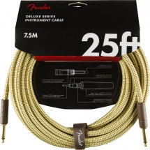 Fender Deluxe Series Instrument Cable Straight/straight 25\' Tweed