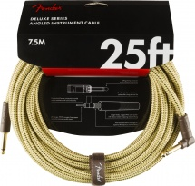 Fender Deluxe Series Instrument Cable Straight/angle 25\' Tweed