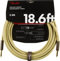 Fender Deluxe Series Instrument Cable Straight/straight 18.6\' Tweed