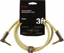 Fender Deluxe Series Instrument Cable Angle/angle 3\' Tweed