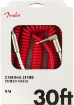 Fender Original Series Coil Cable Straight-angle 30\' Fiesta Red