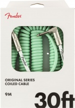Fender Original Series Coil Cable Straight-angle 30\' Surf Green