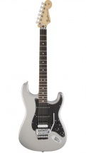 Fender Mexican Standard Stratocaster Hss Floyd Rose Pf Ghost Silver