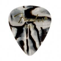 Fender Médiators Premium Forme Standard, Thin, Zebra, Par 12