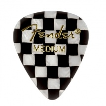 Fender Médiators Premium Forme Standard, Medium, Checker, Par 12