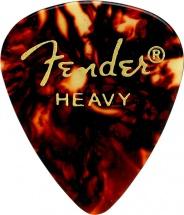 Fender Pack De 12 Mediators Forme 351 Ecaille Heavy Dur