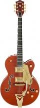 Gretsch G6120tfm Pro Player Nashville Flame Bigsby Orange + Etui