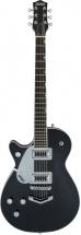 Gretsch Guitars G5230lh Electromatic Jet Ft Single-cut With V-stoptail Left-handed Black Walnut Fingerboard Black
