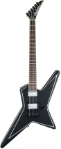 Jackson Guitars Usa Signature Gus G. Star Rw Satin Black With White Pinstripes
