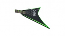 Jackson Guitars X Series Rhoads Rrx24 Rw Black With Neon Green Bevels
