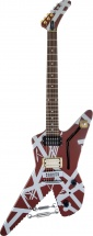 Evh Striped Series Shark, Bur W/ Silver