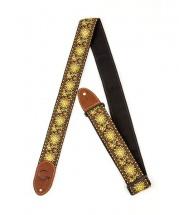 Gretsch Guitars G Brand Strap Yellow/orange Brown Ends