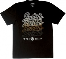 Gretsch Guitars Scrpt Logo Tee Blk L
