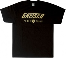 Gretsch Guitars Pandf Mens Tee Blk L