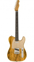 Fender Artisan Spalted Maple Telecaster Macassar Ebony Fingerboard Aged Natural