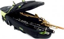 Fusion Housse Soprano Clarinette Flute Noire/vert Lime