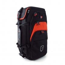 Fusion Bags Housse Triple Trompette Noire Et Orange Pb-06-o