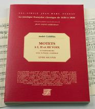 Campra A. - Motets A 1, 2 Et 3 Voix Et Instruments Avec Basse Continue - Livre Second - Fac-simile