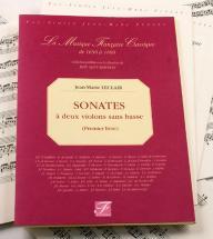 Leclair J.m. - Sonates A Deux Violons Sans Basse, Premier Livre -  Fac-simile Fuzeau