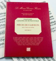 Mondonville J.j. Cassanea De - Pieces De Clavecin Avec Voix Ou Violon. Oeuvre 5e - Fac-simile Fuzeau
