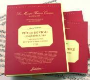 Marais Marin - Pieces De Viole De Gambe, Cinquieme Livre - Fac-simile Fuzeau
