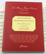 Brossard S. De - Prodromus Musicalis Ou Elevations Et Motets A Voix Seule, Avec Une Basse Continue
