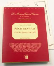 Couperin F. - Pieces De Viole De Gambe Avec La Basse Chiffrée - Fac-simile Fuzeau