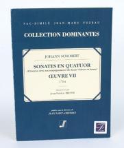 Schobert J. - Sonates En Quatuor Oeuvre 7 - Clavecin, 2 Violons, Basse - Fac-simile Fuzeau