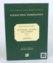 Locatelli P.a. - Xii Sonate A Violino Solo E Basso, Opera Sesta - Fac-simile Fuzeau
