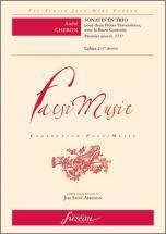 Cheron A. - Sonates En Trio - Premier Oeuvre 1727 - 2 Flutes, Bc - Fac-simile Fuzeau