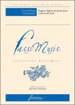 Telemann G.p. - Fugues Legeres & Petits Jeux A Clavessin Seul - Fac-simile Fuzeau