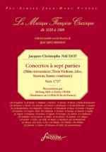 Naudot J.c. - Concerto A Sept Parties, Vers 1737 - Fac-simile Fuzeau