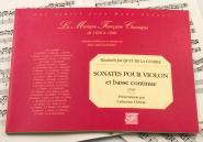 Jacquet De La Guerre E. - Sonates Pour Violon Et Basse Continue, 1707 - Fac-simile Fuzeau