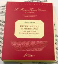 Marais M. - Pieces De Viole, Quatrieme Livre - Fac-simile Fuzeau