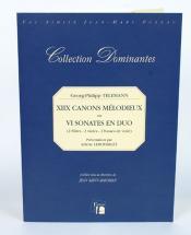 Telemann G.p. - Xiix Canons Melodieux Ou Vi Sonates En Duo, Paris, 1738 - Fac-simile Fuzeau