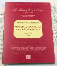 Boismortier J. Bodin De - Motets A Voix Seule, Oeuvre 23 - Fac-simile Fuzeau
