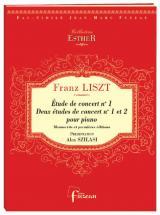 Liszt F. - Trois Etudes De Concerts - Piano - Fac-simile Fuzeau